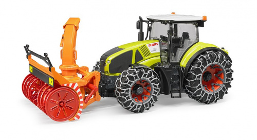 Трактор Claas Axion 950 c цепями и снегоочистителем Bruder (03017)